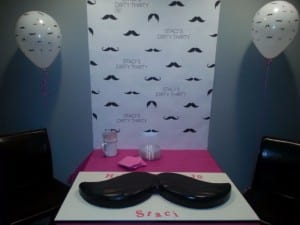 Dirty 30 Mustache Birthday Party